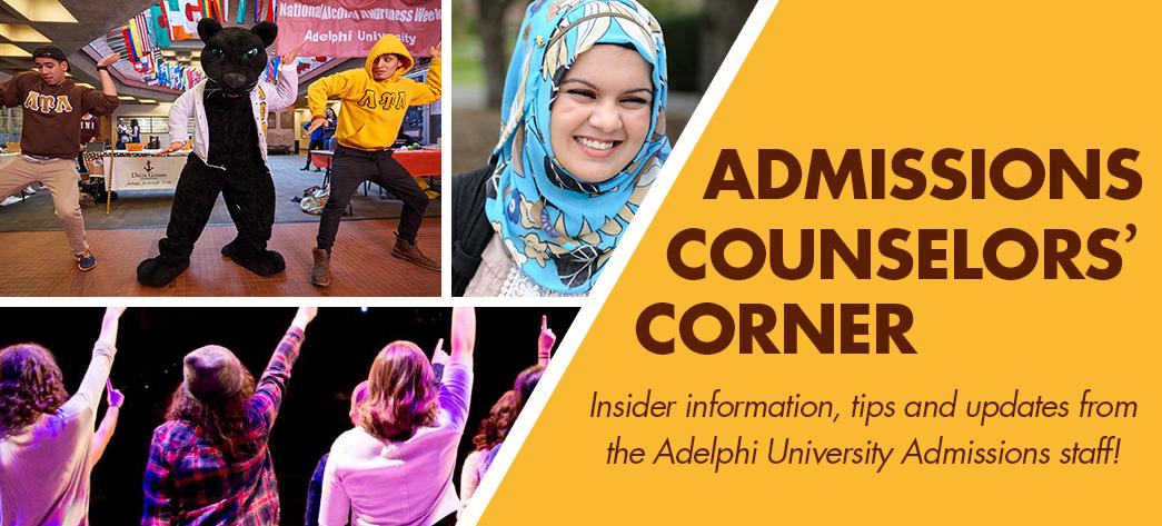 Admissions Counselors' Corner