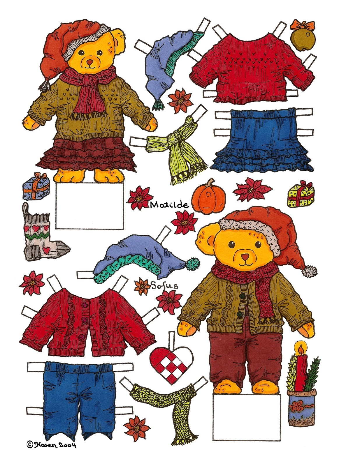 Winter Season Cut-outs Matilde and Sofus.