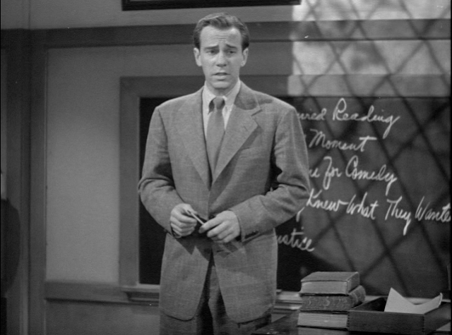 Richard Carlson plays a poetry professor in Young Ideas 1943