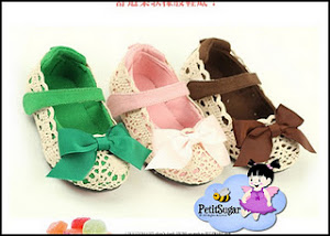 CHLOE BOW SHOES Size: 16 13.5CM 17 14CM 18 14.5CM 19 15CM 20 15.15CM RM45  GREEN