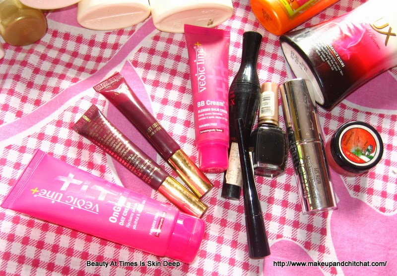 Empty skin products of June