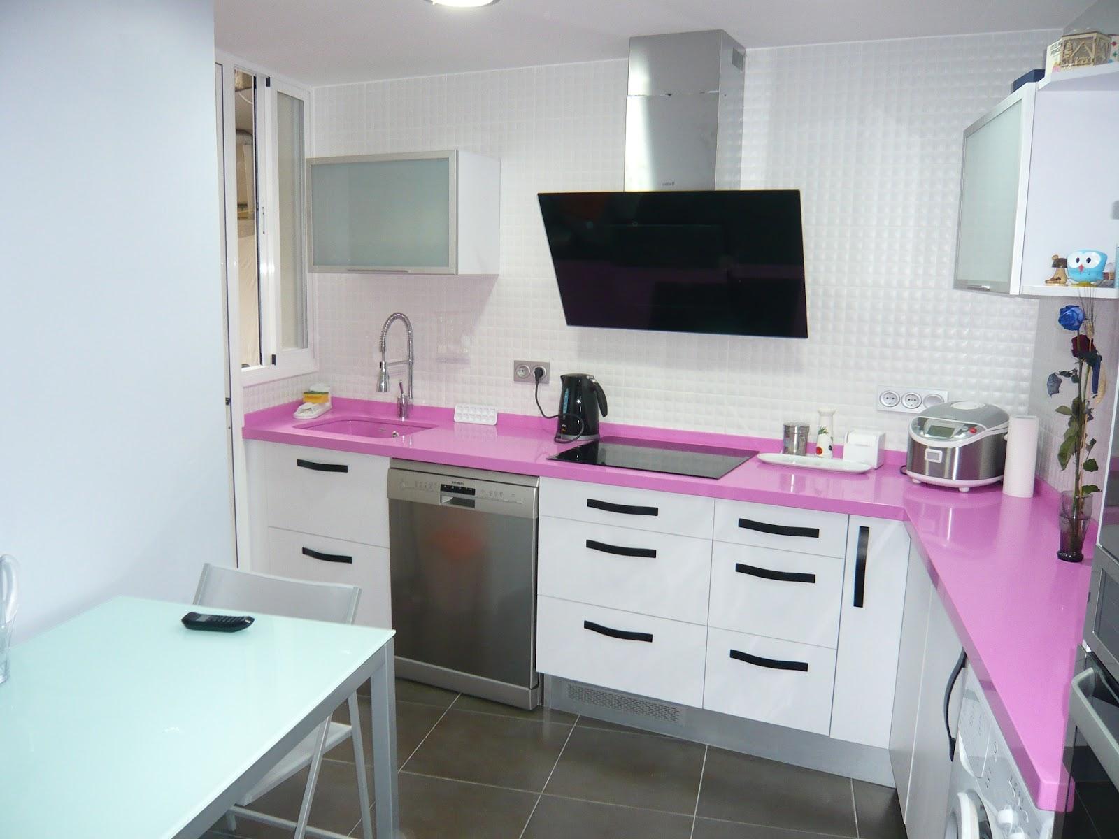 Reuscuina muebles de cocina en formica blanca mate - Muebles cocina formica ...