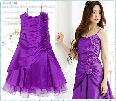 purple junior dress for parties