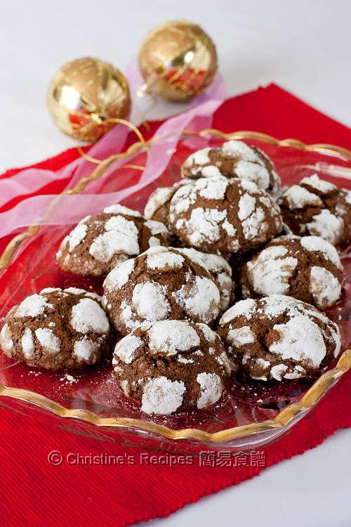 朱古力裂紋曲奇餅 Chocolate Crackle Cookies01