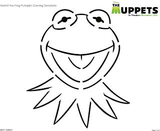 Muppet Pumpkin Stencil: Kermit the Frog