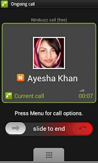 free call nimbuzz app