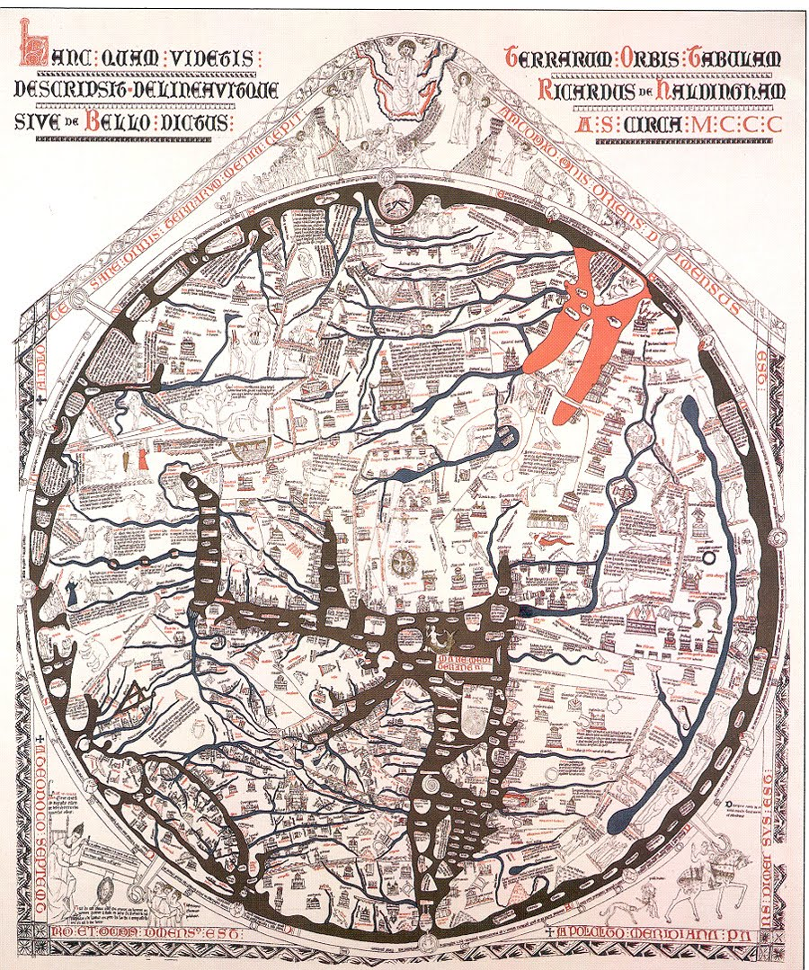 the hereford mappa mundi is the largest intact medieval wall map in the world and its ambition is breathtaking to picture all of human knowledge in a