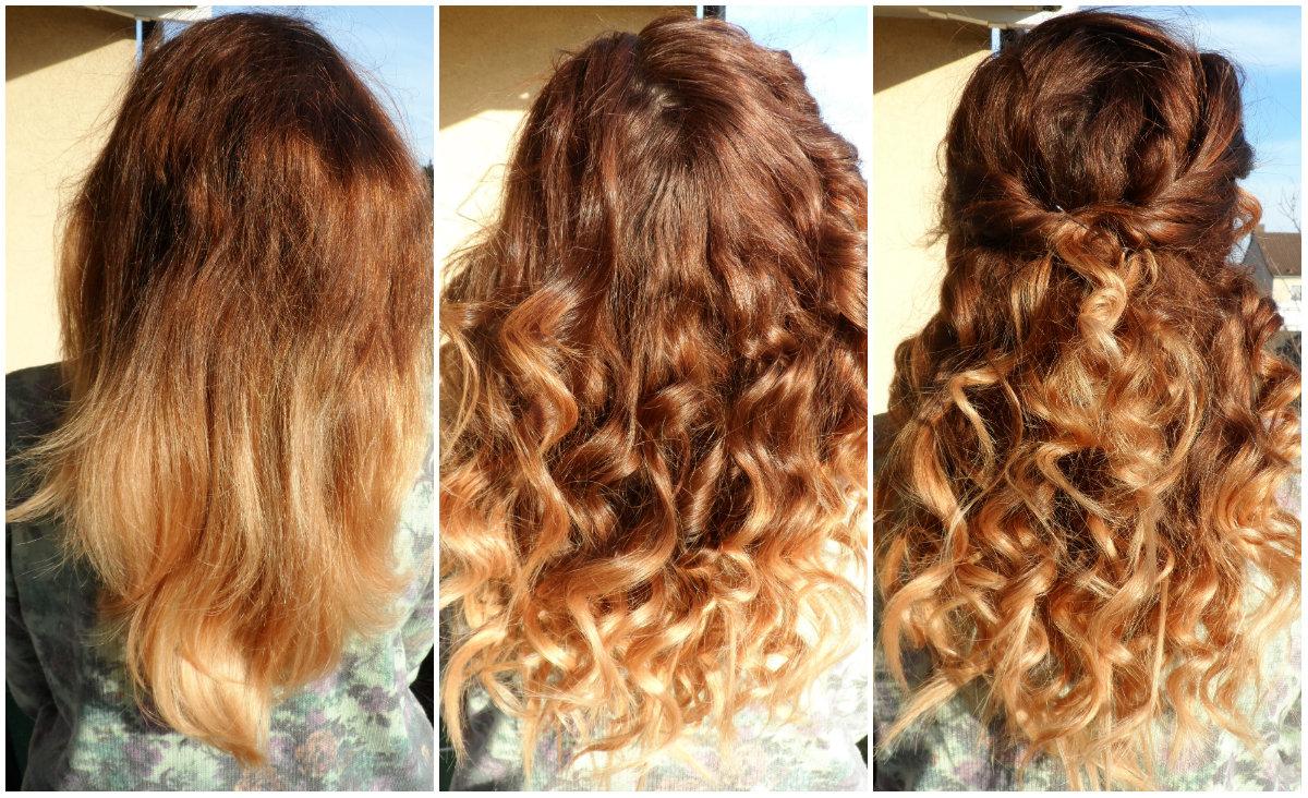 Braun lockige haare blond farben