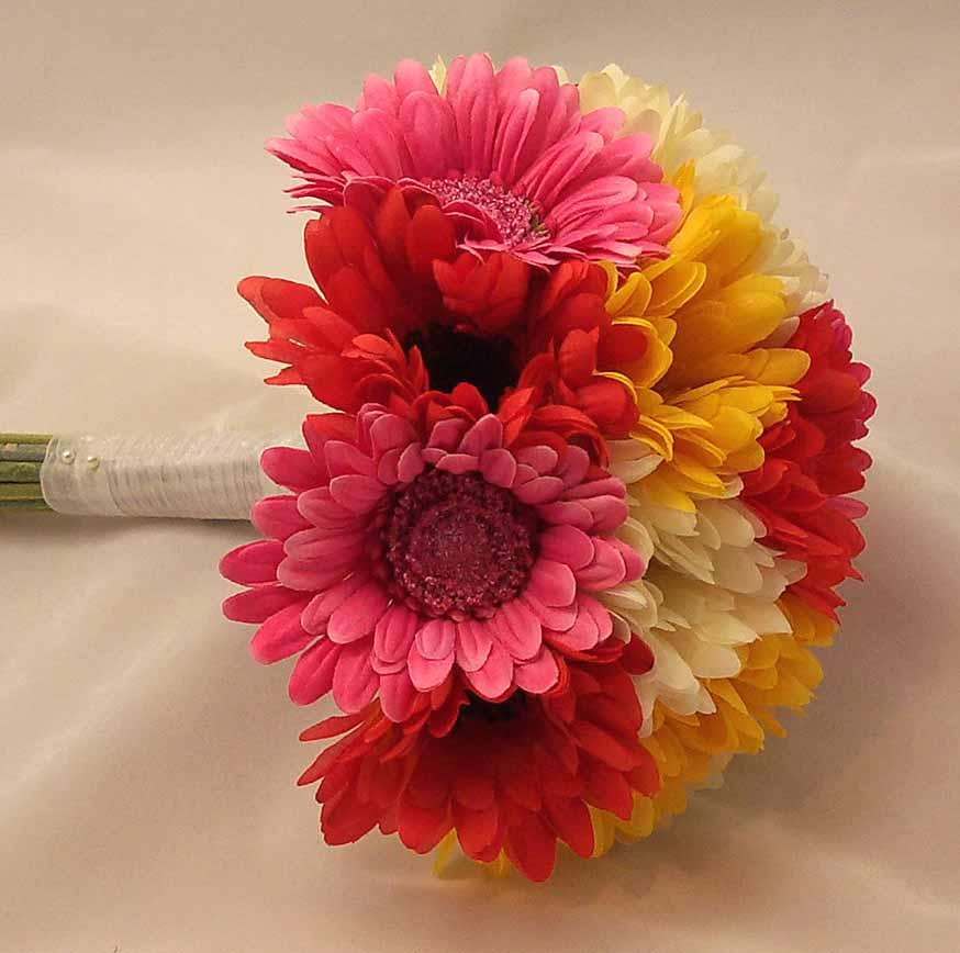 Mixed Gerbera Bridal Posy Bouquet Wallpapers