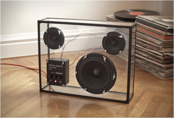The Transparent Speaker designed by Swedish-based company People People is a see-through glass box that highlights its black drivers \u2014 one 6.5-inch ... & Gadgets Korner: Transparent Speaker