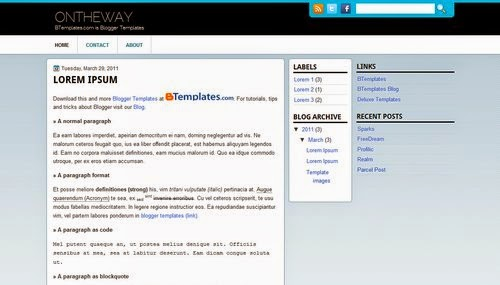 OnTheWay - Free Blogger Template