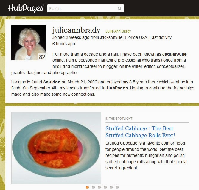 julieannbrady on hubpages september 2014
