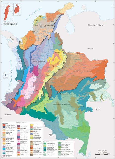 mapa de las regiones de colombia full hd