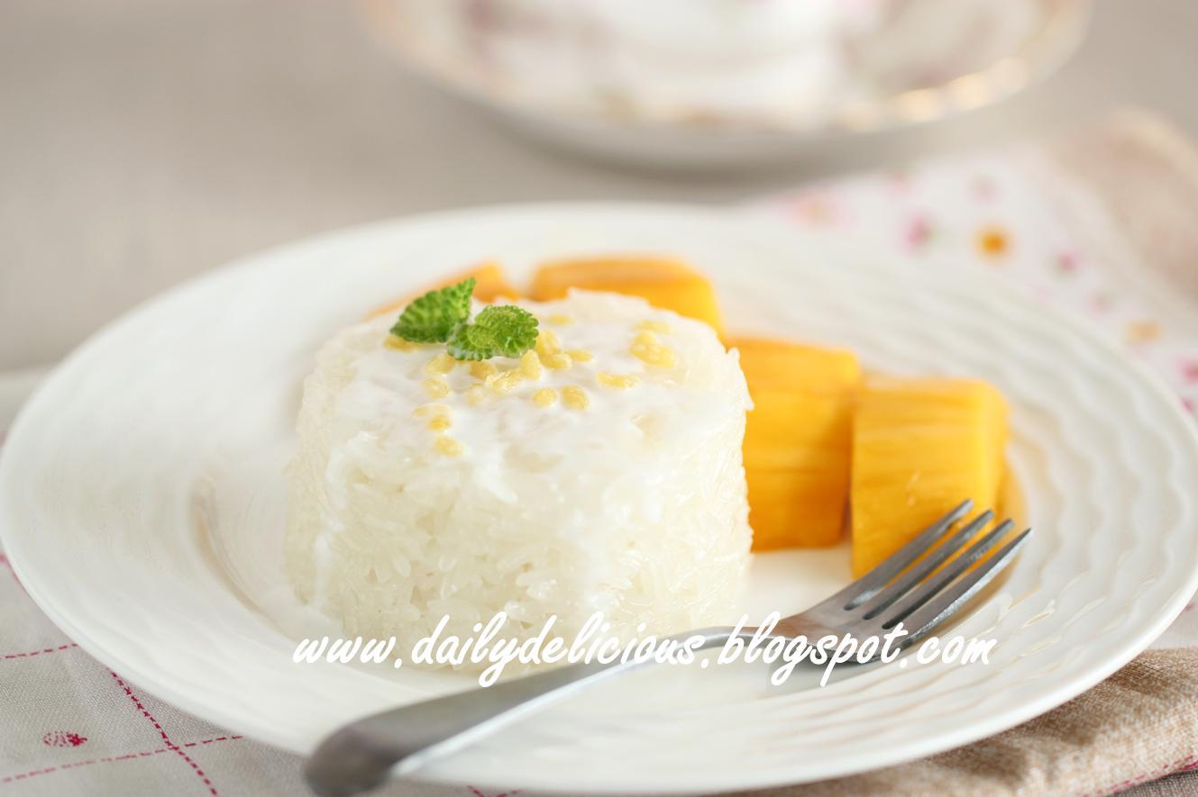 "... LG SolarDOM: Coconut Milk Sticky Rice with Mangoes ""Khao Neeo Mamuang"