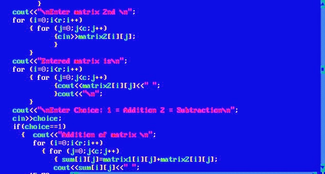 Write a C++ Program to Add Two Matrices using array