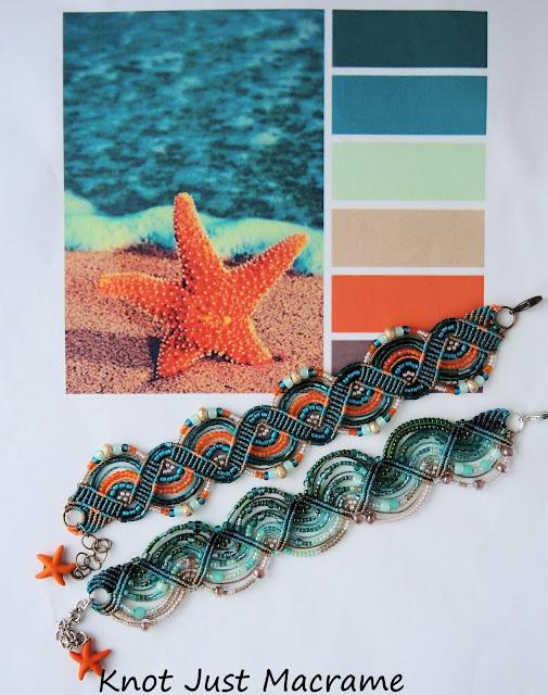 Micro macrame bracelets by Sherri Stokey of Knot Just Macrame
