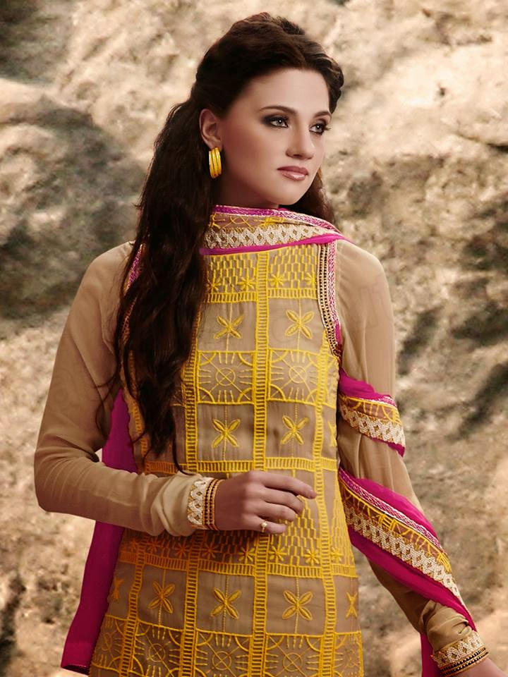 Beige Color Shalwar Kameez