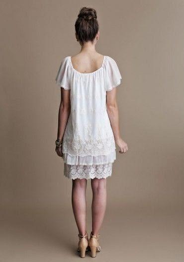 Short Ruche Wedding Dress: Affordable Wedding Dresses - 1920s