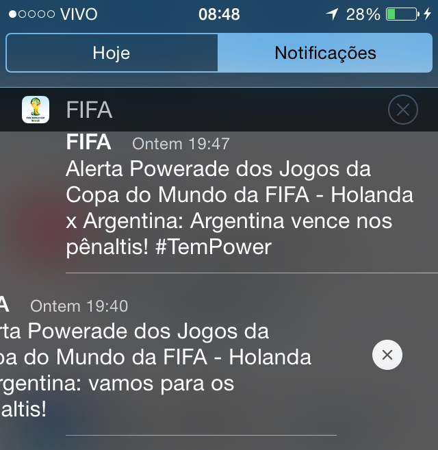 Notificações iOS 8 beta 3