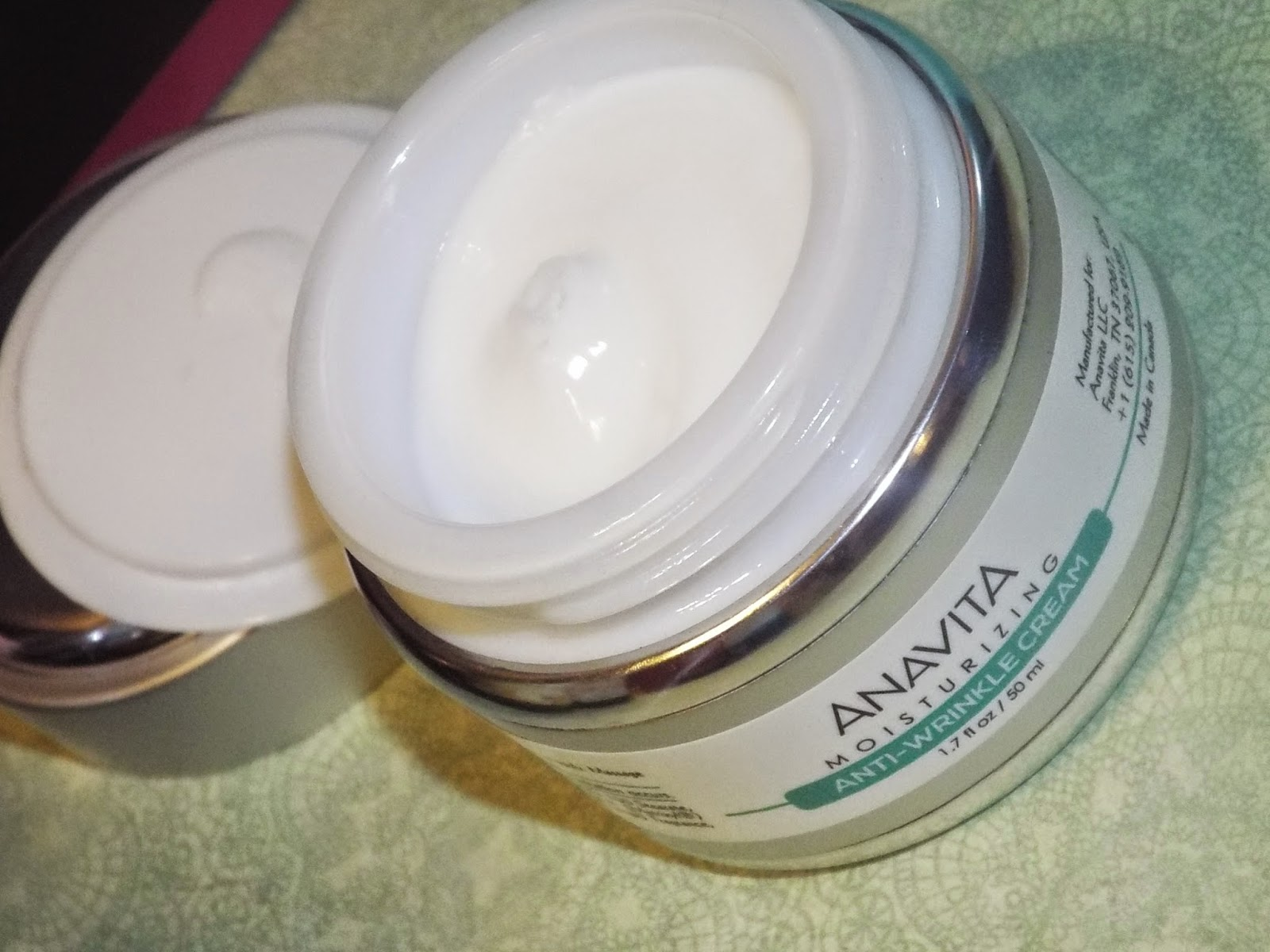 Anavita Moisturizer is Thick