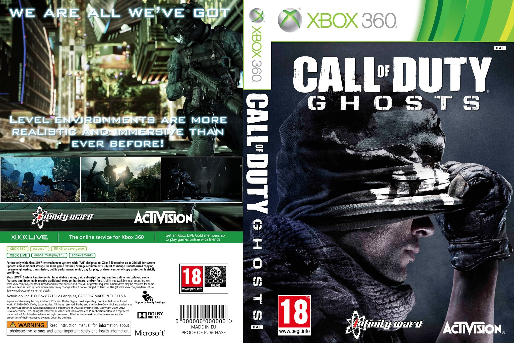 Ultra Capas: Call Of Duty Ghosts - Xbox 360