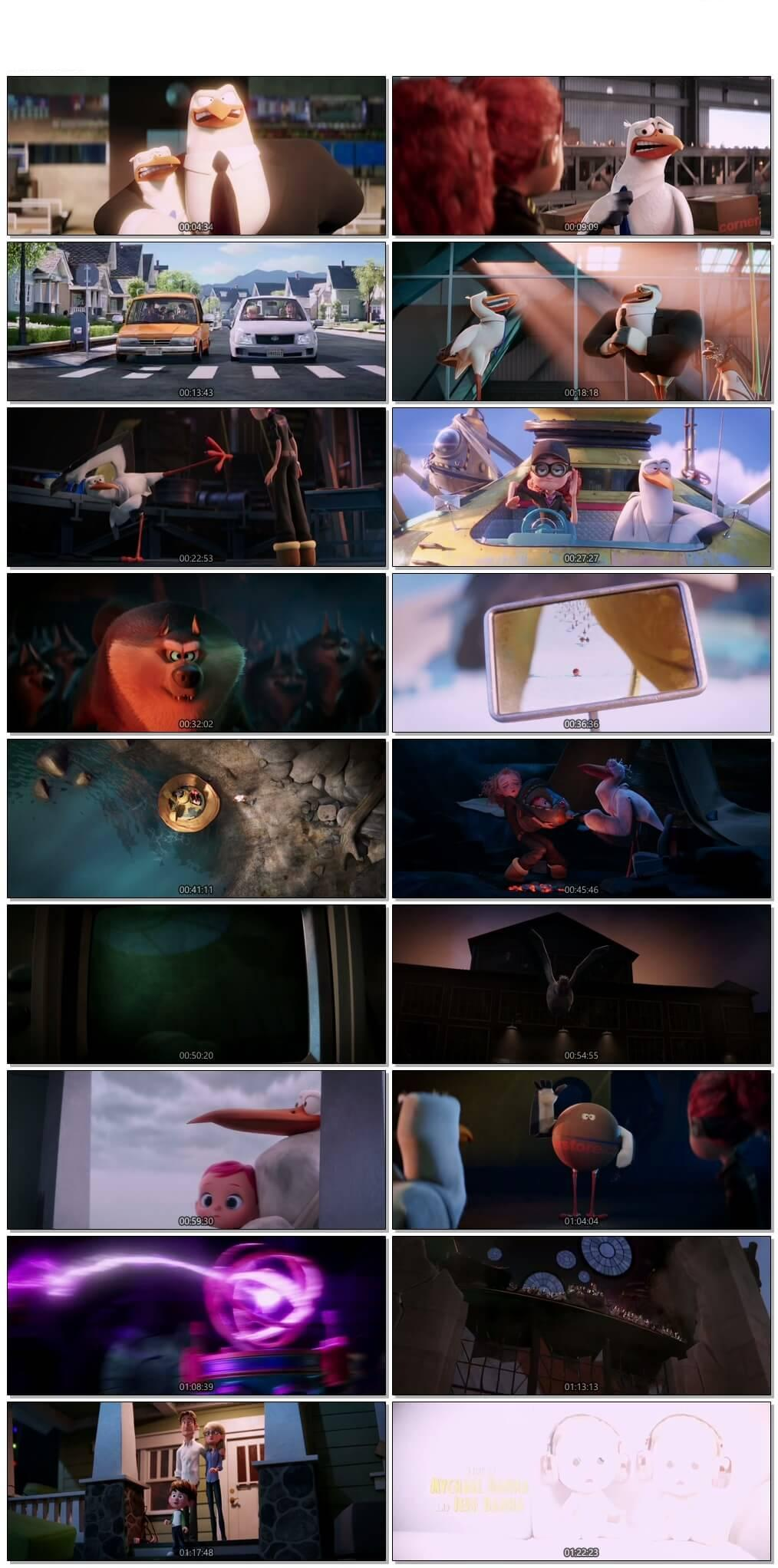 Screen Shot Of Storks 2016 Full Movie Download Free Watch Online 300MB
