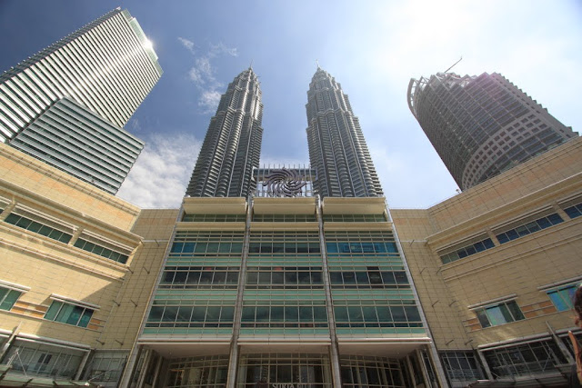 Suria KLCC shopping mall and the Twin Tower at the background in Kuala Lumpur, Malaysia