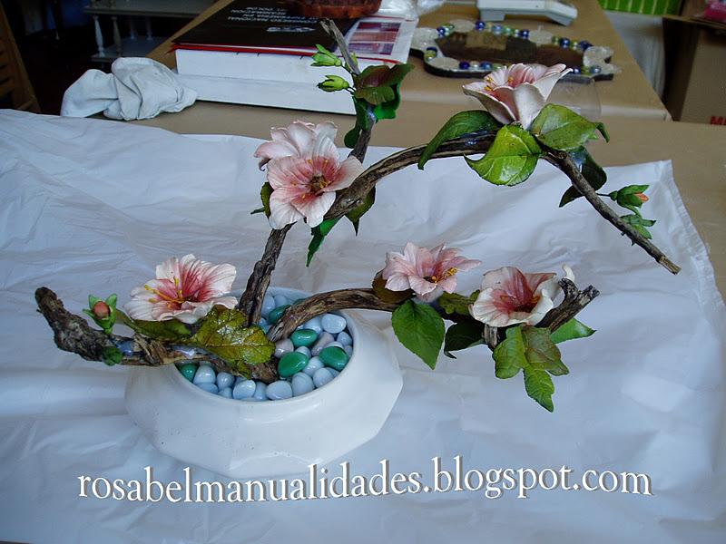Rosabel manualidades ramas decoradas con flores de - Ramas decoradas ...