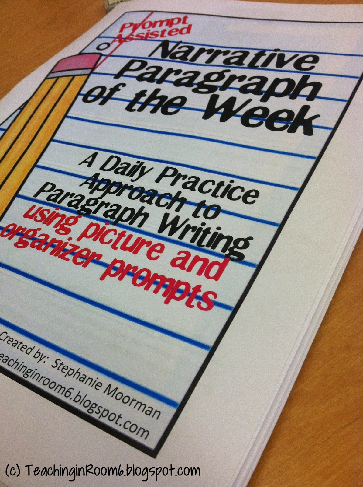 http://www.teacherspayteachers.com/Product/Paragraph-of-the-Week-Fictional-Narrative-Prompt-Assisted-1539380