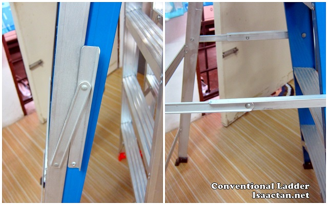 My previous ladder with the hinge on the outside; prone to damage from entanglement with objects