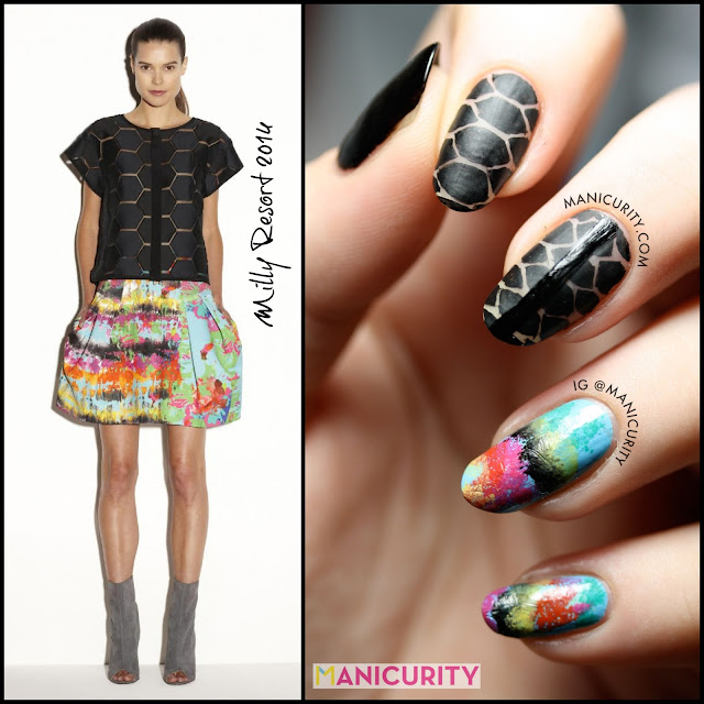 Manicurity | Milly Resort 2014 Technicolor Surfer Girl Nails