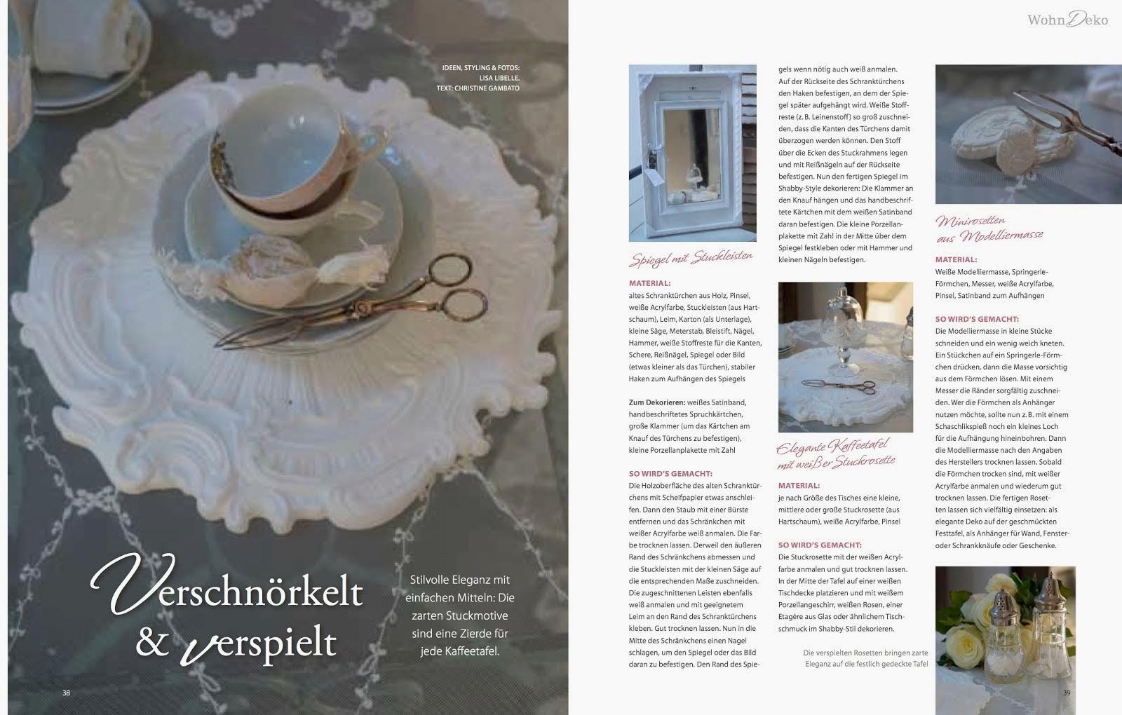 kreative Ideen von LISA LIBELLE in der Zeitschrift LandIDEE Wohnen & Deko