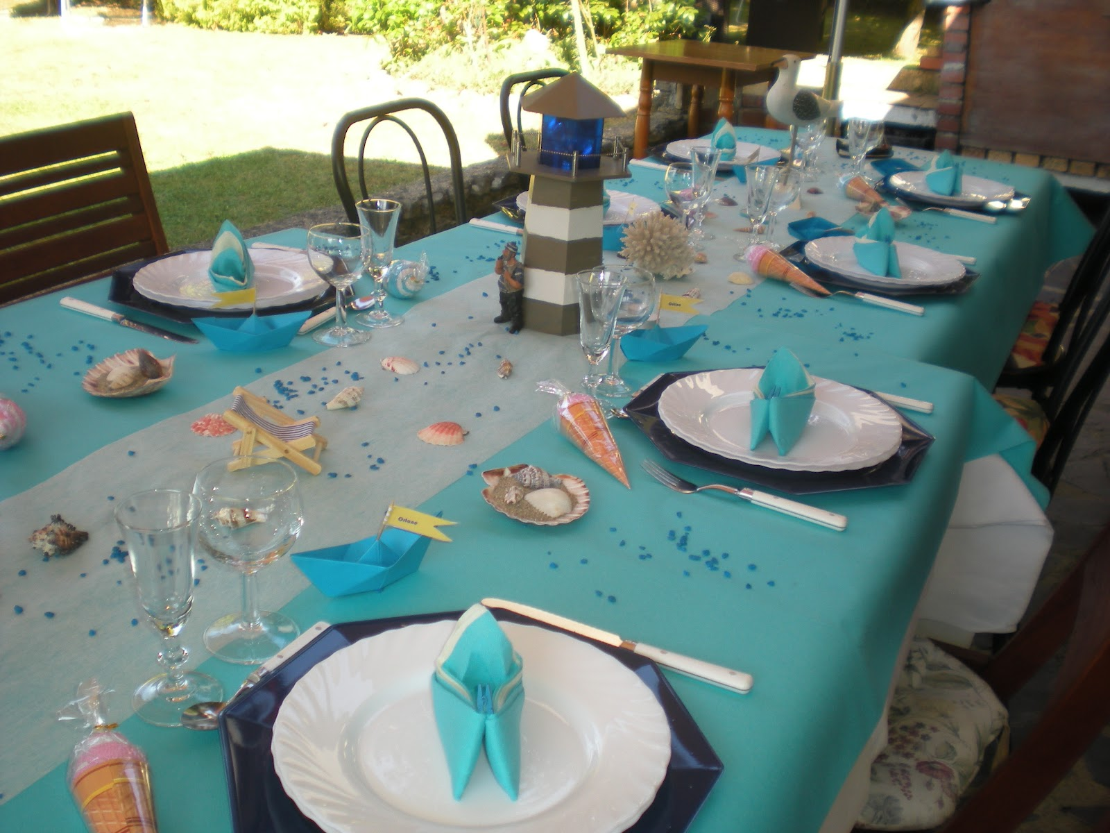 D co th mes d co vacances la mer - Deco table mer ...