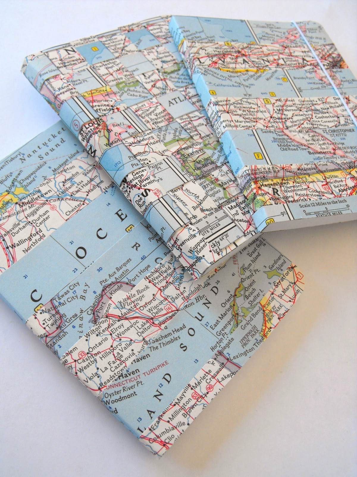 Modern Book Cover Map : Ruby murrays musings ways with vintage maps washi tape