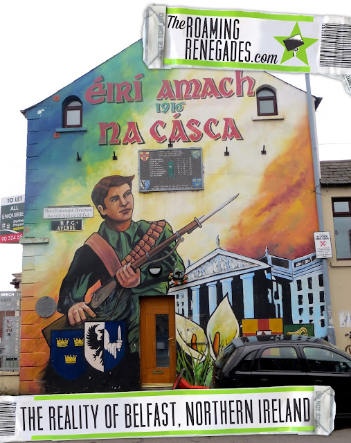 Belfast, Northern Ireland, Murals, The Troubles, Sons of Anarchy, can I visit Belfast, what is Belfast really like, east Belfast, shankill road, Catholic, Protestant, Loyalist, Unionist, town hall, Stornmont, falls road, Ulster, Titanic, Irish, Tri-colour, flags, uk, union jack, flags, ak-47, peace, new Belfast, keeping an open mind, Carnlough, Ballintoy, Giant's Causeway, Carrick-a-rede, UNESCO,