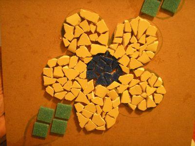 mosaico3 Mosaico na Parede da Sala