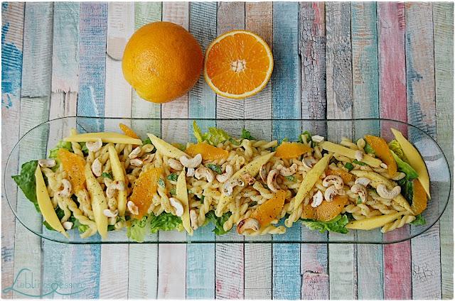 fruchtiger Sommer Pasta Salat