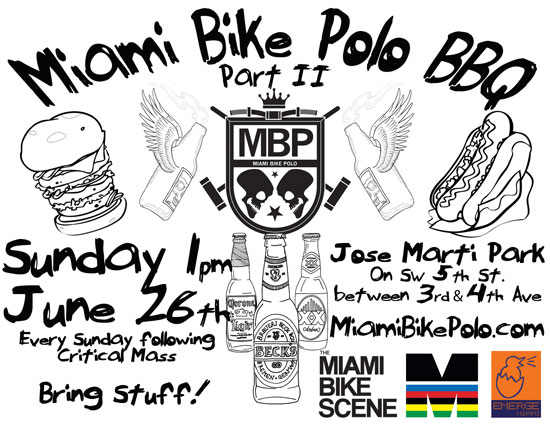 Bikes And Bbq Green Bay Miami Bike Polo BBQ