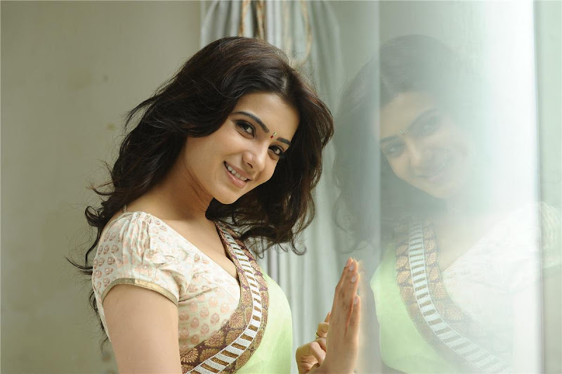 Telugu Lovely Actress Samantha Exclusive Cute Saree Stills cleavage