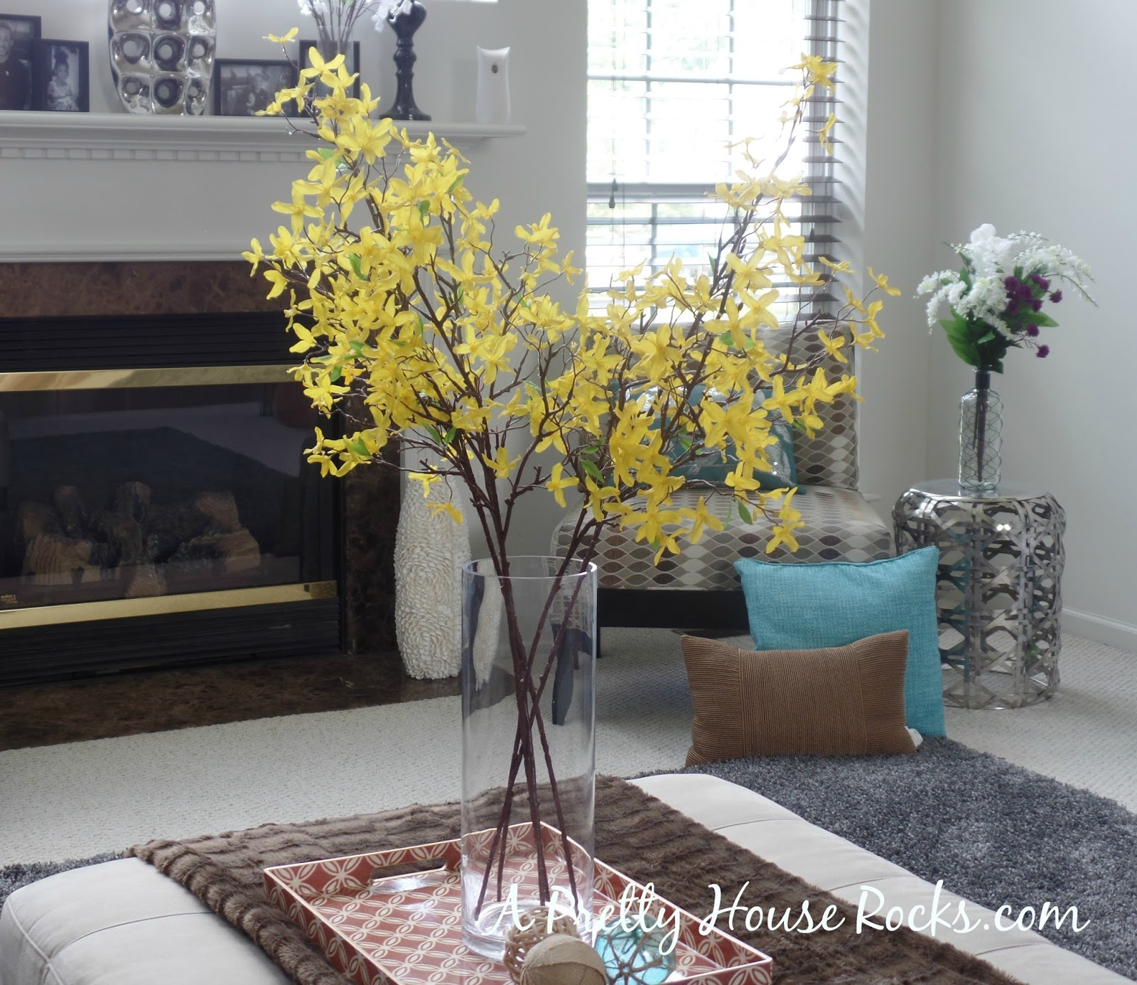 A few easy and inexpensive spring and summer decor for the family the white flowers were a purchase from joannes last spring its super cheap to decorate izmirmasajfo