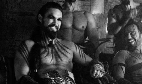 Jason Momoa como Khal Drogo en Juego de Tronos