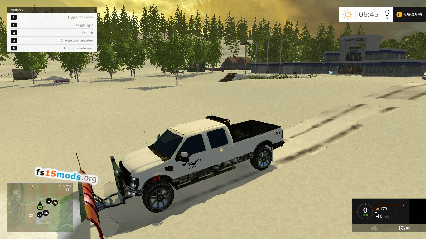 Ford f250 plow truck fs15 mods ford f250 plow truck with light bar edited from existent ford f250 with clean log steering issues were fixed an more aloadofball Choice Image