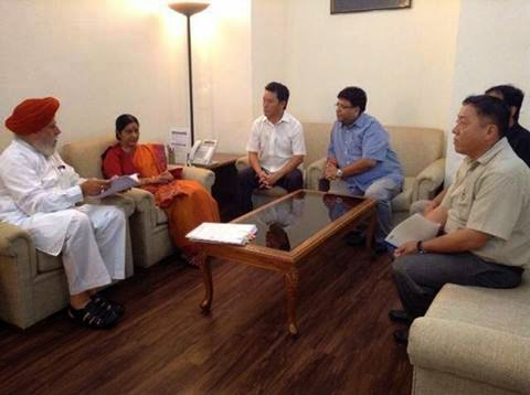 GJM delegation met three union ministers regarding present situation of Darjeeling hills