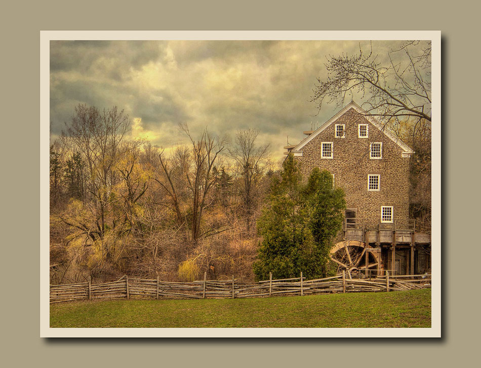 Roblin's Mill in the spring at Black Creek Pioneer Village.  Holly Cawfield Photography