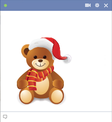 Christmas Teddy Bear Emoticon