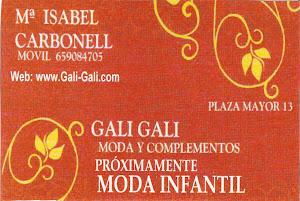 GALI GALI MODA Y COMPLEMENTOS. SOUVENIRS