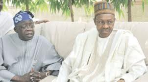 Tinubu sitting with Buhari to conclude the merger talks