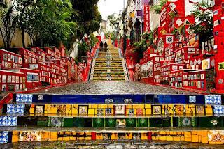 Brezilya Renkli Merdivenler