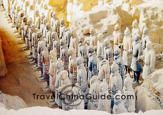 Terracotta army stand at attention.