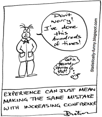 Cartoon illustrating the problems with experiential knowledge